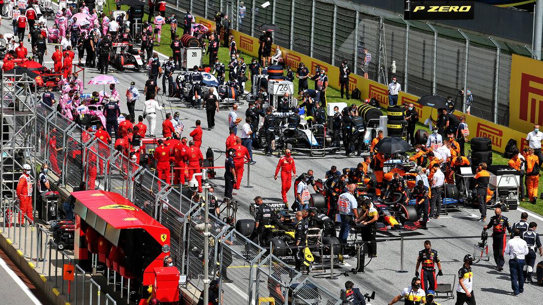 Startaufstellung - Formel 1 - GP Steiermark 2020 - Spielberg - Rennen
