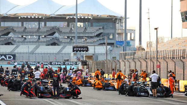 Startaufstellung - GP Abu Dhabi 2020 - Rennen