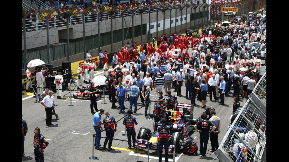 Startaufstellung GP Brasilien 2011
