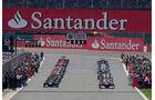 Startaufstellung GP England 2012