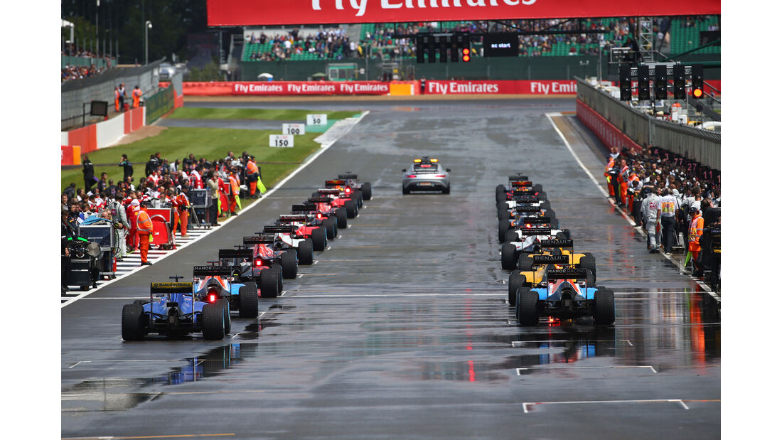 Startaufstellung - GP England 2016 - Silverstone - Rennen