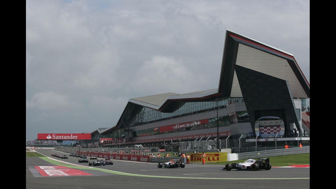 Startaufstellung GP England Silverstone 2012