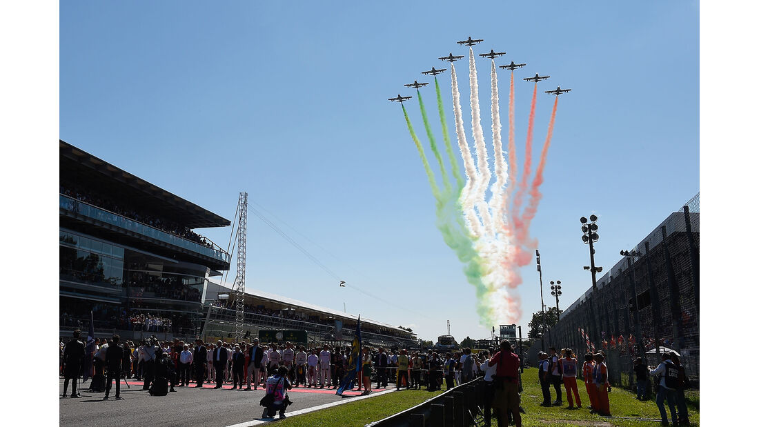 Startaufstellung - GP Italien 2015