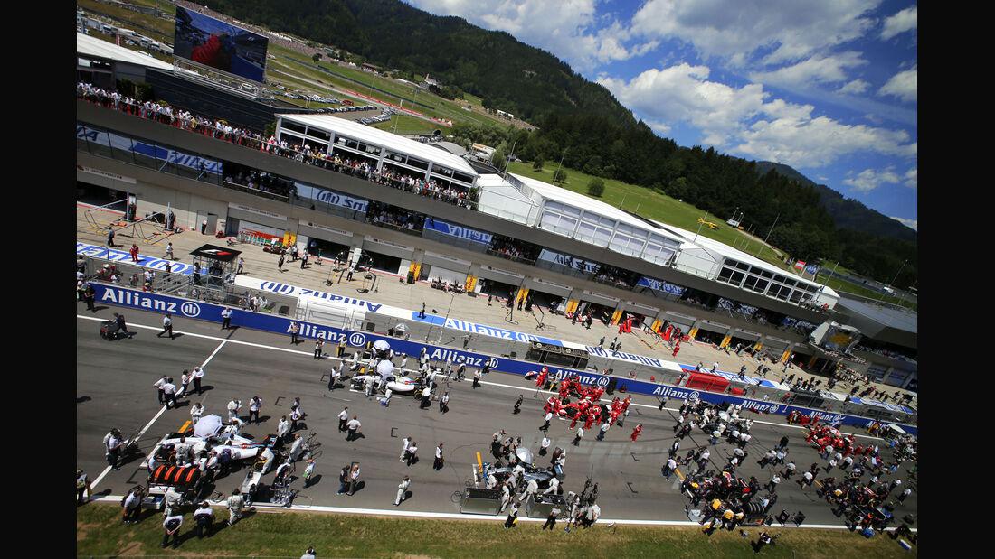 Startaufstellung - GP Österreich 2014