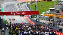 Startaufstellung - GP Österreich 2017 - Spielberg - Rennen