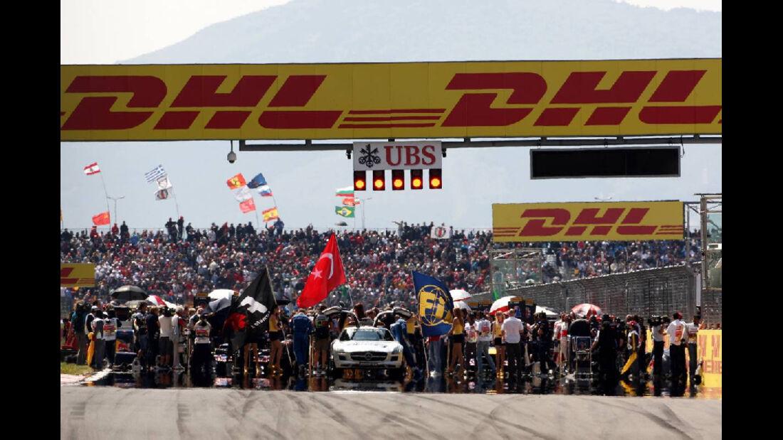 Startaufstellung Impressionen GP Türkei 2011