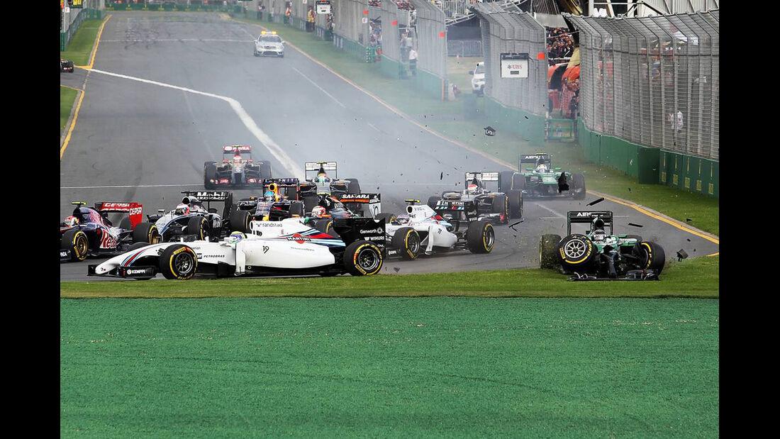 Startcrash - Formel 1 - GP Australien - 16. März 2014