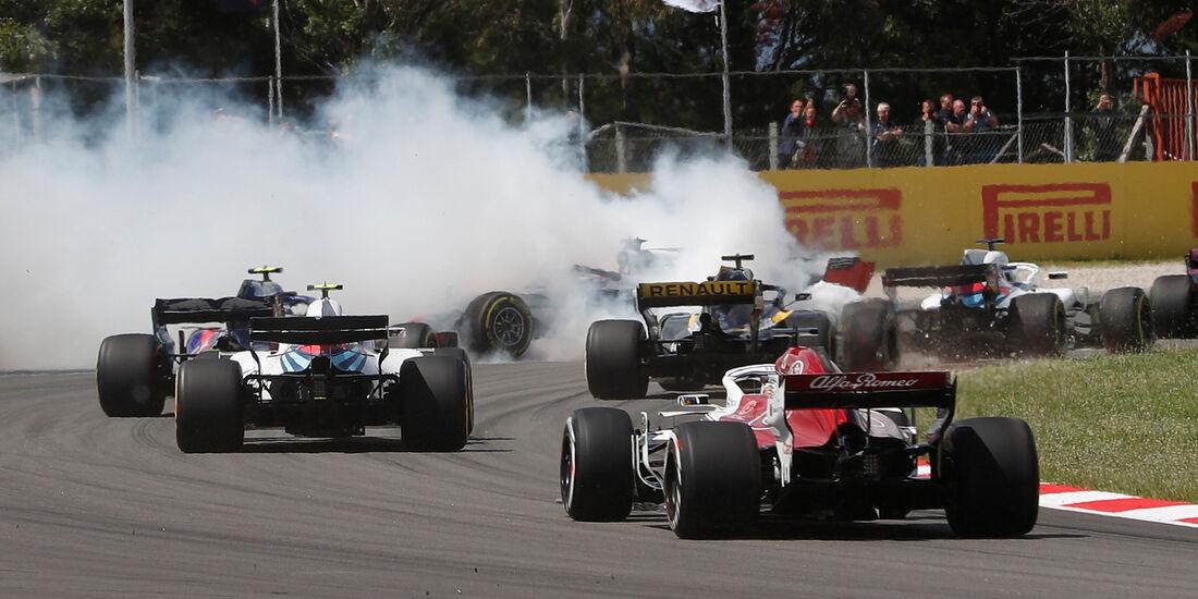 Startcrash - Formel 1 - GP Spanien 2018