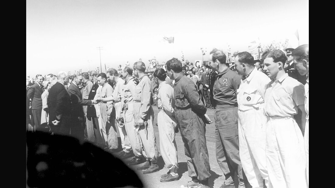 Starterfeld - GP England 1950