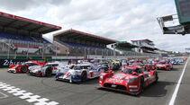 Starterfeld - Le Mans-Vortest 2015