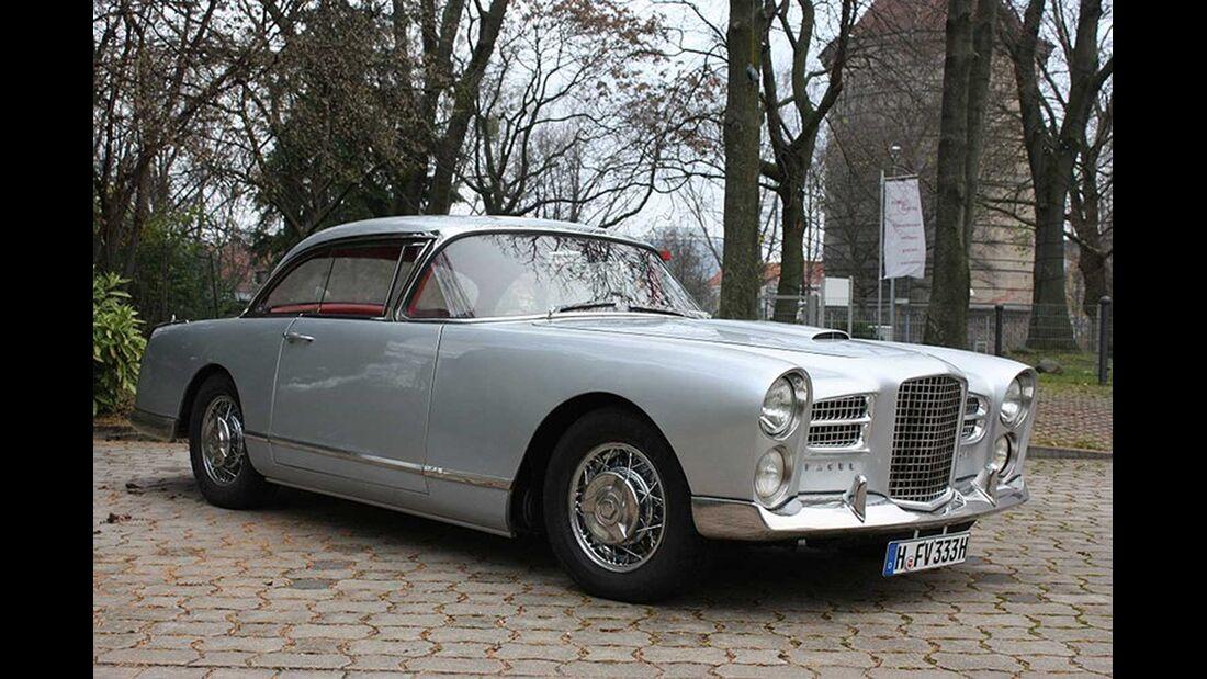 Startnummer 124: Karsten Höhns und Martina Köste im Facel Vega FV 3, 4,5 Liter, V8, 200 PS, Baujahr 1956.