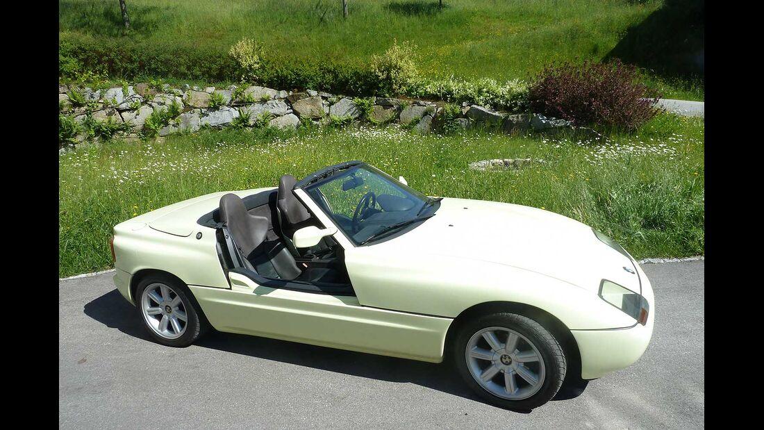 Startnummer 157: Christian und Hermine Ennikl im BMW Z1, 2,4 Liter, 6-Zyl. Reihe, 170 PS, Baujahr 1990, Team Yellow Fox 1.