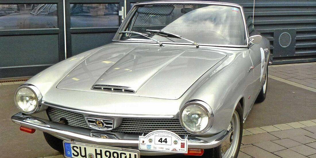 Startnummer 97: Hubert Peter Herter und Angelika Herter im Glas GT 1700, 1,7 Liter, 4-Zyl. Reihe, 100 PS, Baujahr 1964.