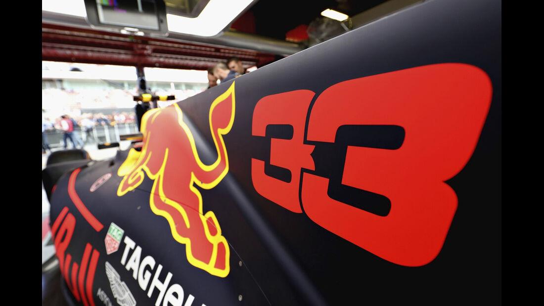 Startnummern Red Bull - GP Spanien 2017