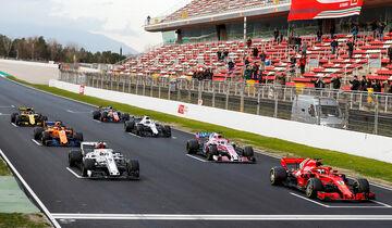 Startübung - Barcelona F1-Test 2018