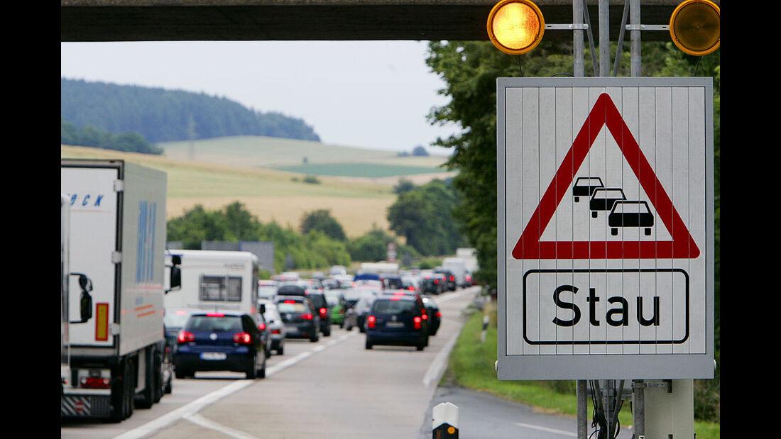 Stau, Autobahn