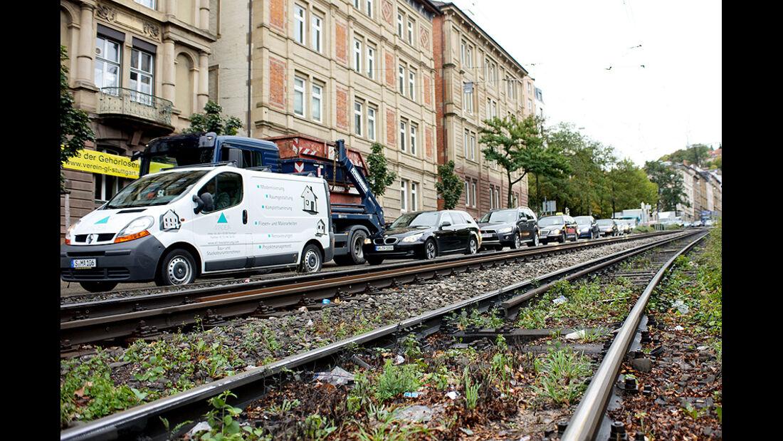 Stau, Stuttgart, Warnstreik VVS