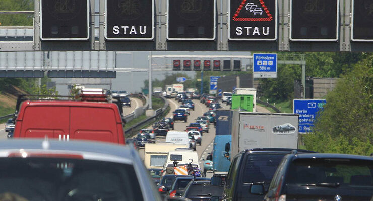 Stau, elektronische Verkehrsleitsysteme