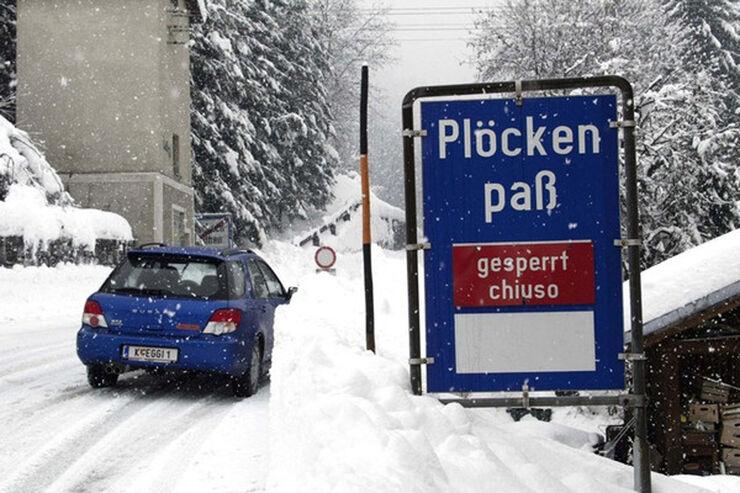 Stauvorhersage Winter, Plöckenpaß Sperrung