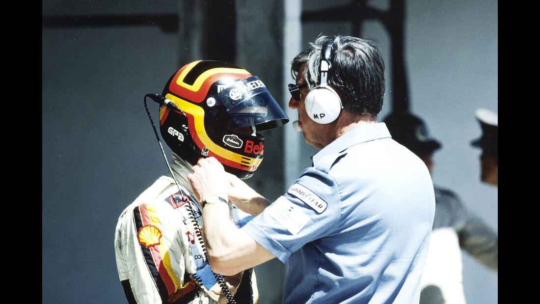 Stefan Bellof & Ken Tyrrell - Formel 1 - GP Brasilien 1984