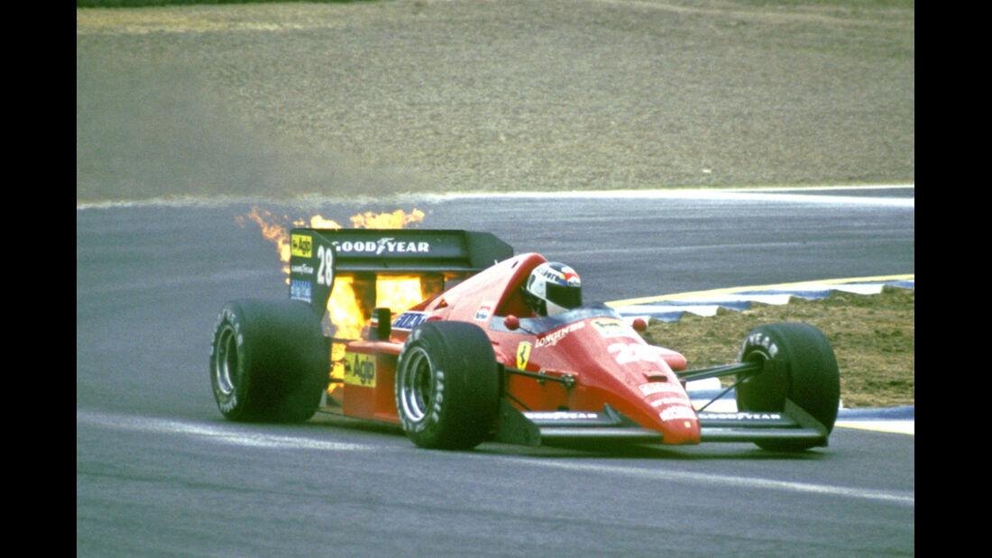 Stefan Johansson - Feuer am Ferrari