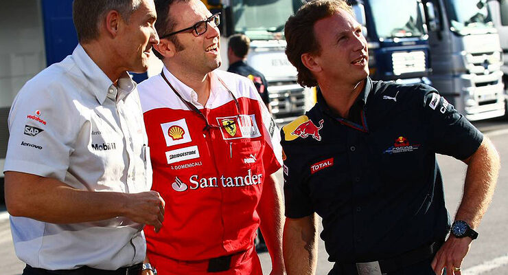Stefano Domenicali Martin Whitmarsh Christian Horner