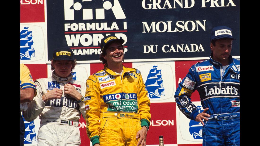 Stefano Modena - Tyrrell - Nelson Piquet - Benetton - Riccardo Patrese - Williams - GP Kanada 1991 - Montreal