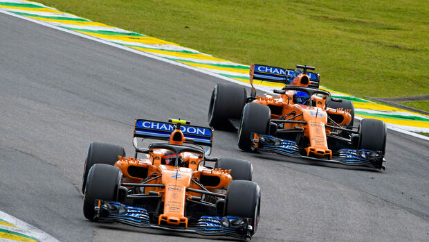 Stoffel Vandoorne - Fernando Alonso - McLaren - GP Brasilien 2018