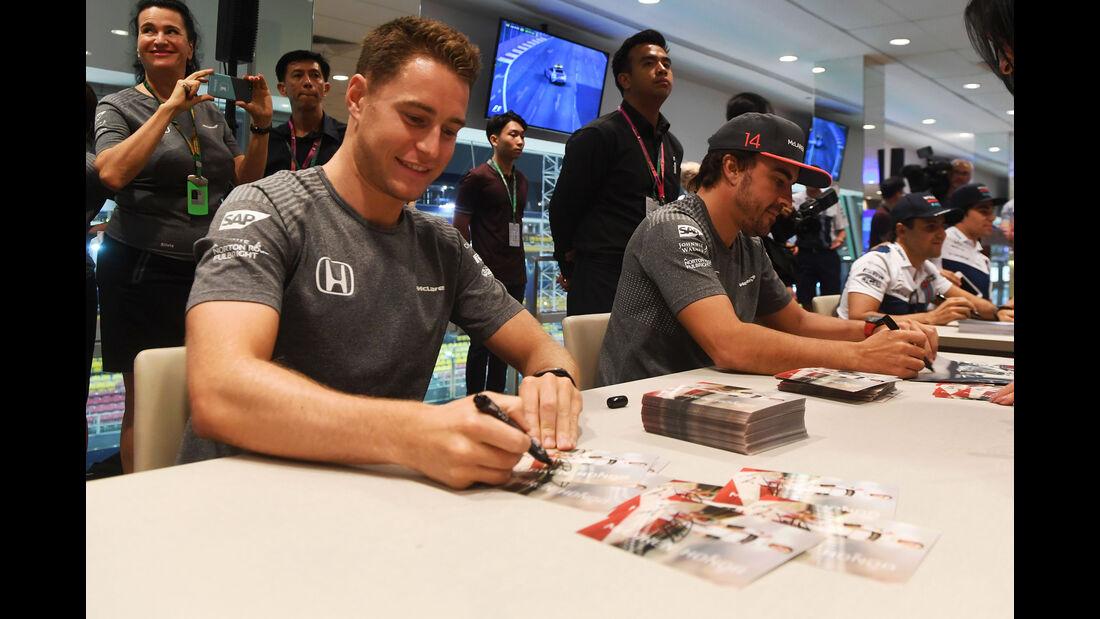 Stoffel Vandoorne - Fernando Alonso - McLaren-Honda - GP Singapur - Formel 1 - Donnerstag - 14.9.2017