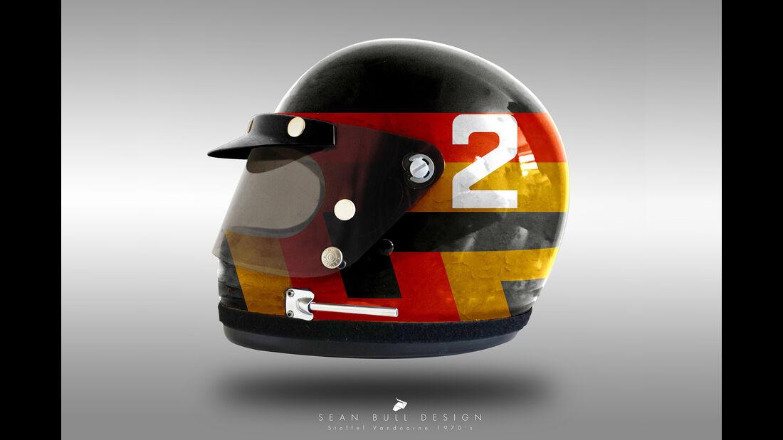 Stoffel Vandoorne - Formel 1 - Retro-Helme - Sean Bull - 2018