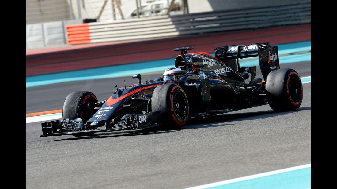 Stoffel Vandoorne - McLaren - F1 Test - Abu Dhabi - Dienstag - 1.12.2015