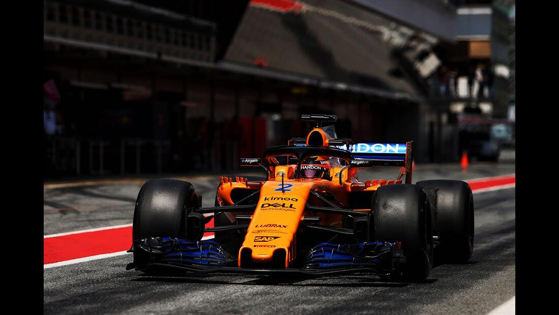 Stoffel Vandoorne - McLaren - F1-Test - GP Spanien - Barcelona - Tag 2 - 16. Mai 2018