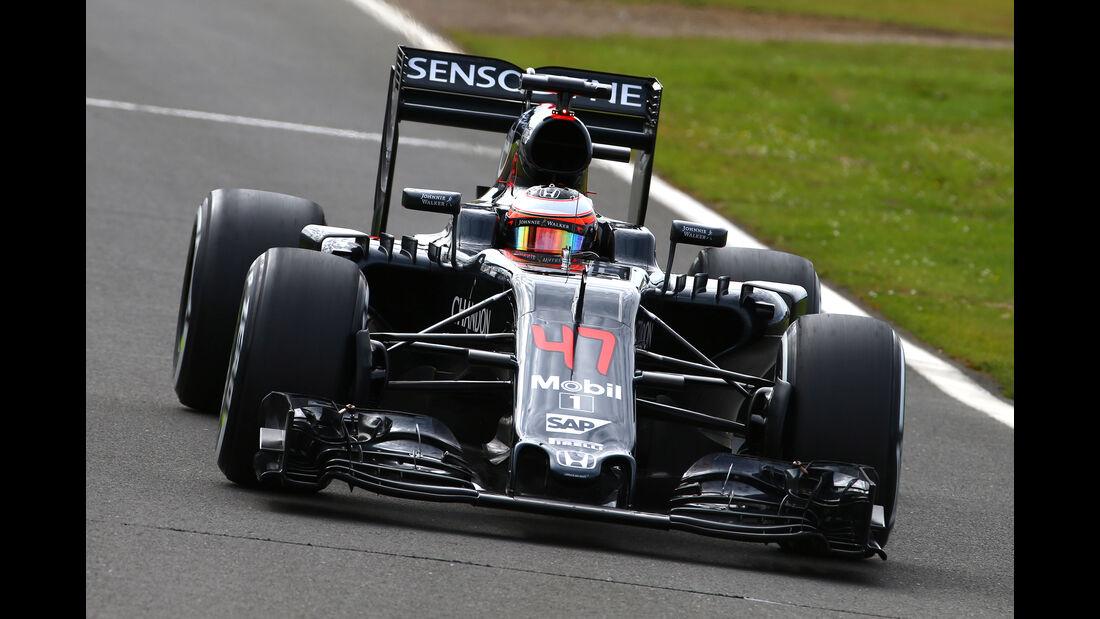 Stoffel Vandoorne - McLaren - Formel 1 - Silverstone-Test - 13. Juli 2016