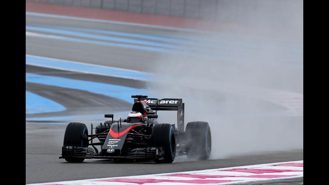 Stoffel Vandoorne - McLaren - Pirelli Regentest - Paul Ricard - 25. Januar 2016