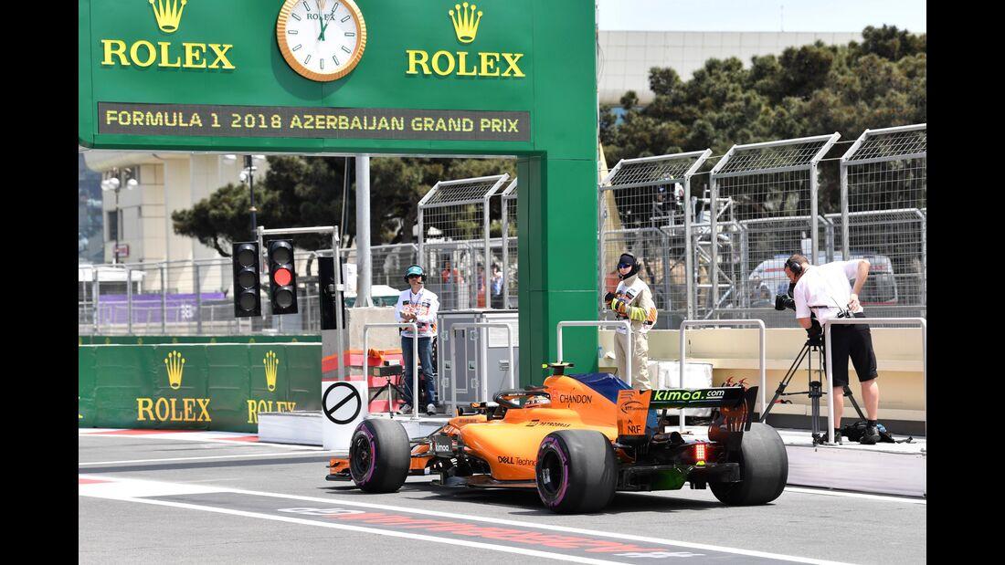 Stoffel Vandoorne - McLaren-Renault - Formel 1 - GP Aserbaidschan - 27. April 2018