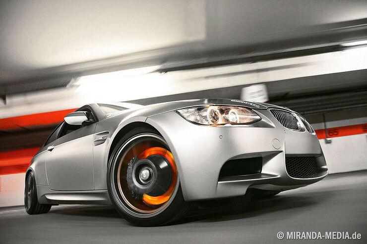 Stoptech BMW M3, Tuning, glühende Bremse