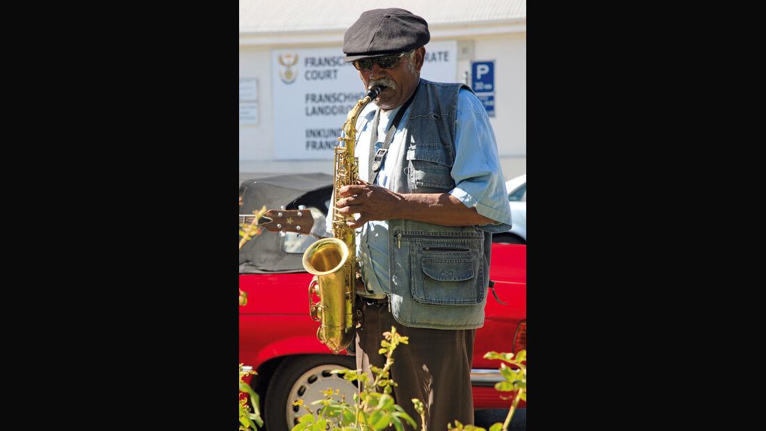 Straßenmusiker, Weinort Franschhoek