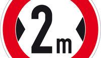 Straßenschild, Breite 2m