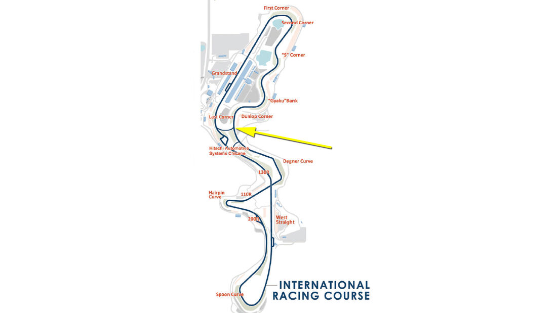 Strecke Suzuka - GP Japan