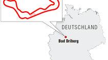 Streckengrafik Bilster Berg-Rennstrecken