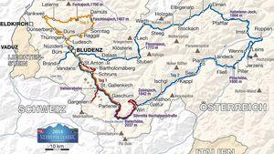 Streckenkarte Silvretta Classic 2014