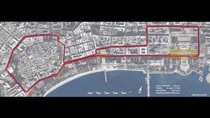 Streckenlayout Baku - GP Aserbaidschan 2016