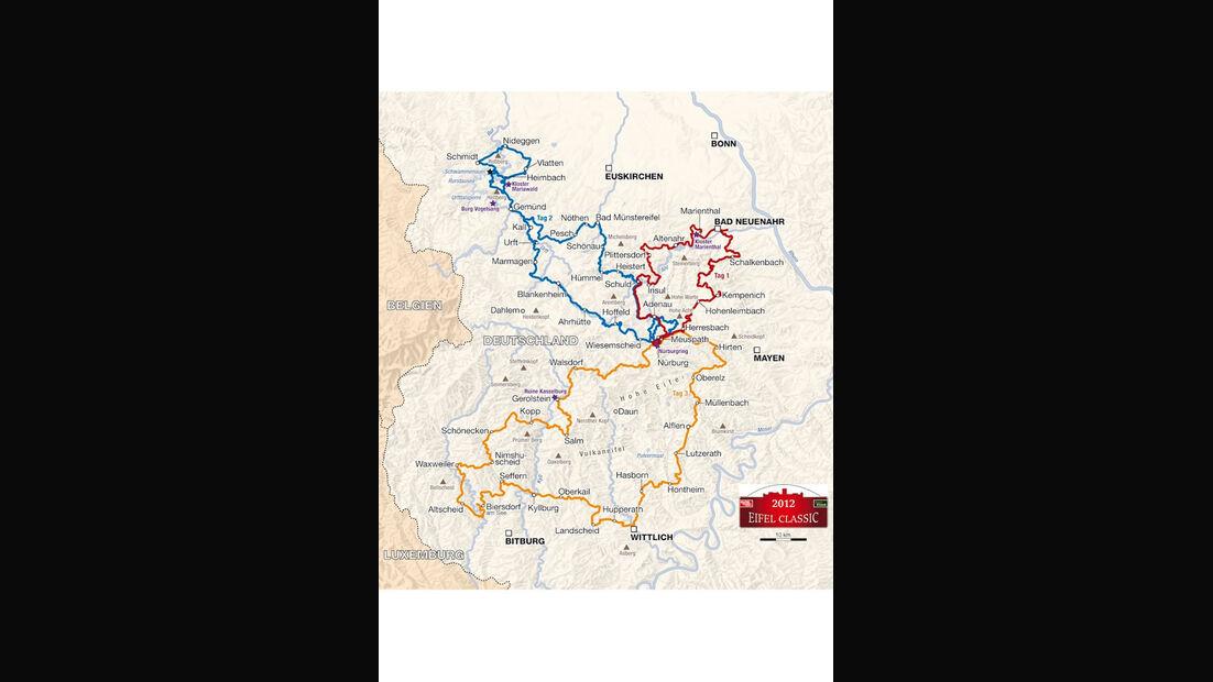 Streckenplan Eifel Classic 2012