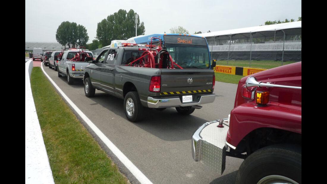 Streckensicherung GP Kanada 2011