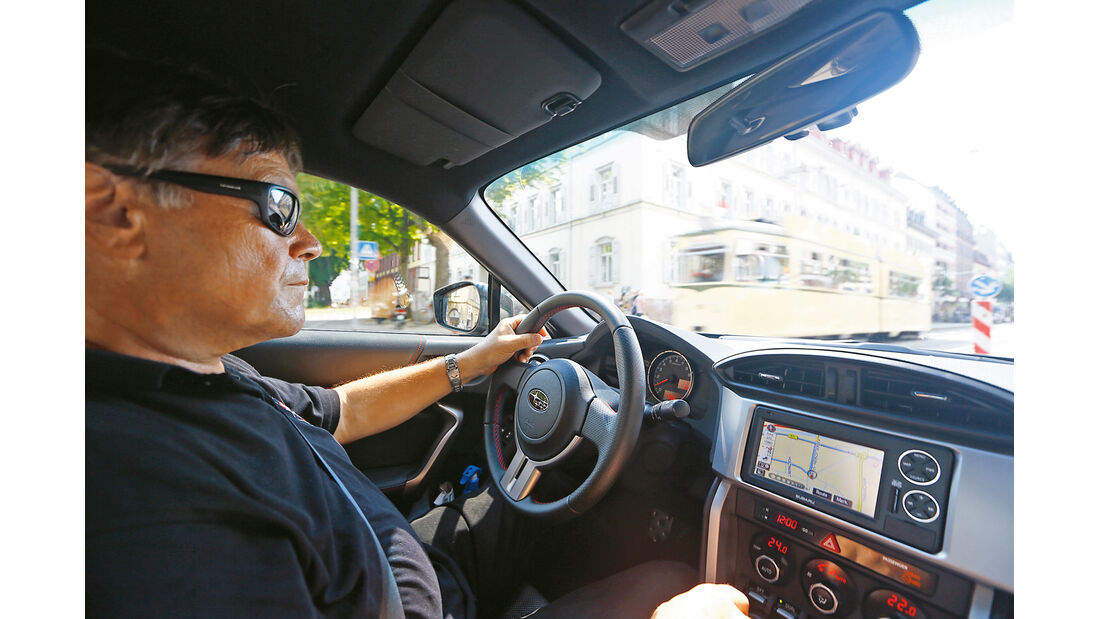 Subaru BRZ, Cockpit, Fahrersicht