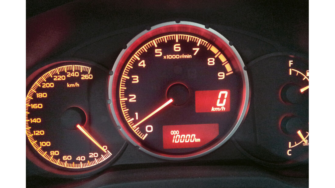 Subaru BRZ, Drehzahlmesser