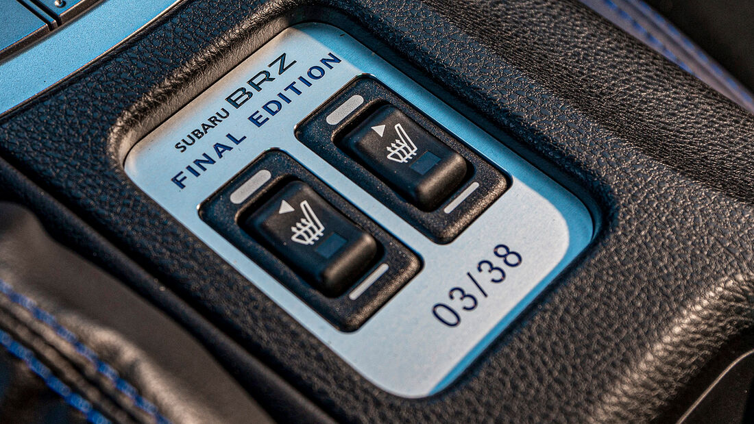 Subaru BRZ Final Edition, Interieur