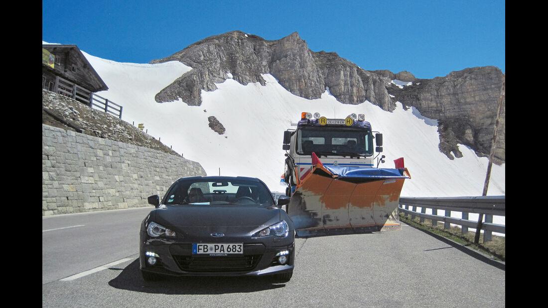 Subaru BRZ, Großglockner, Österreich, Schneeräumfahrzeug