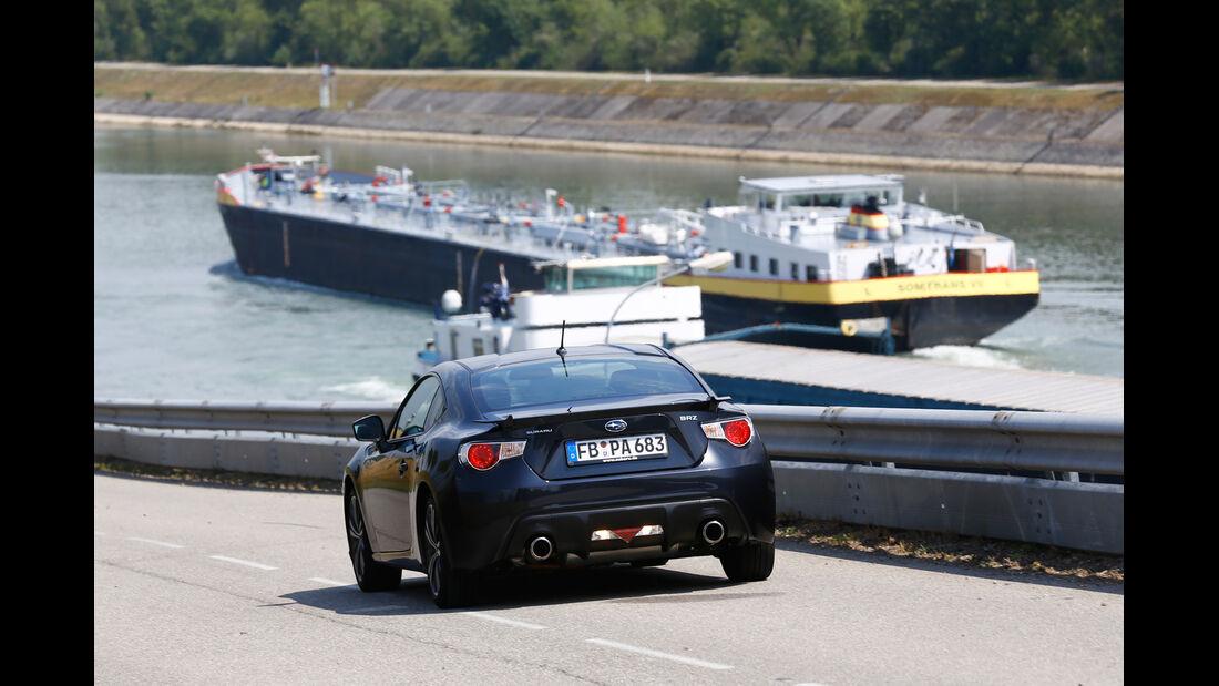 Subaru BRZ, Heckansicht, Rhein