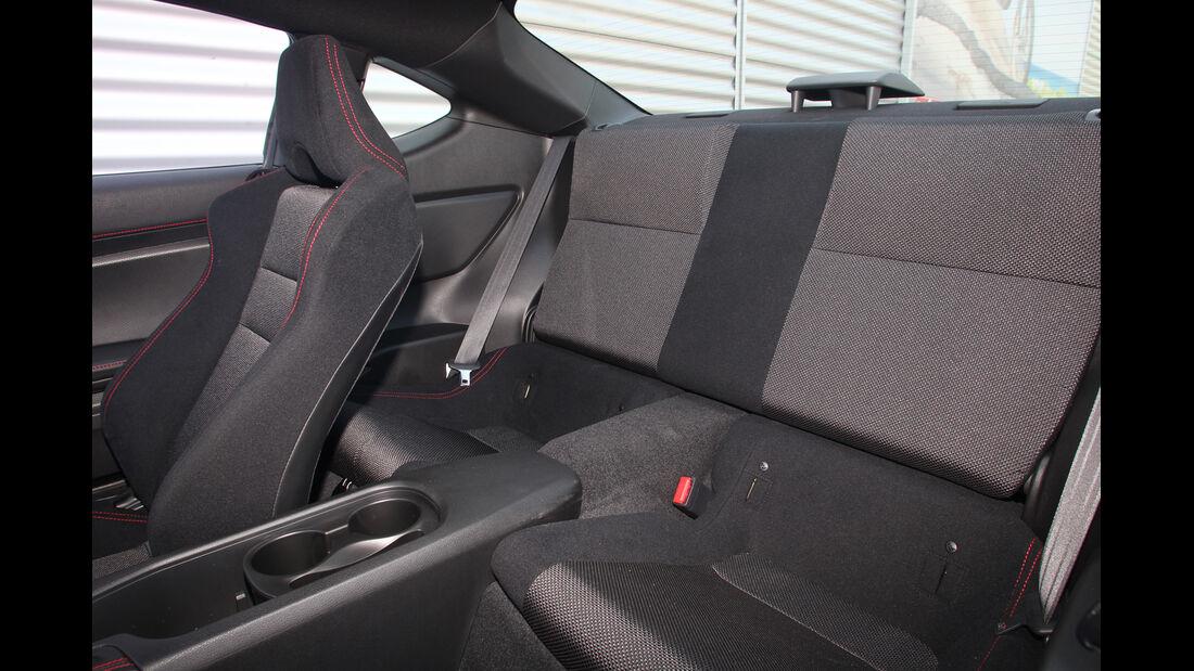 Subaru BRZ, Rücksitz